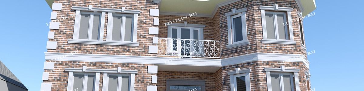 Фасад из гибкого кирпича