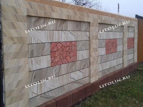 Гибкий камень Забор