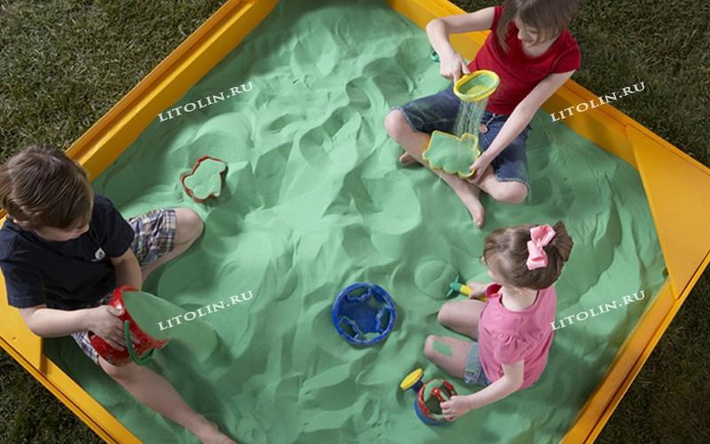 Цветной песок. Фото