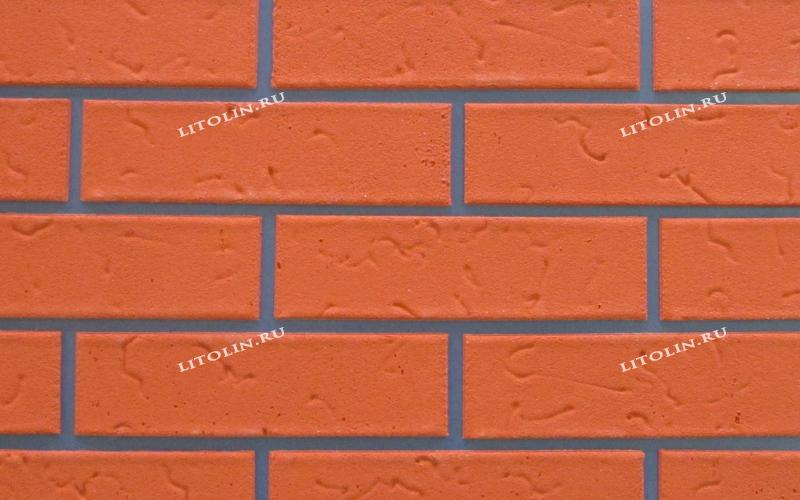 Гибкий клинкер Тёмно-оранжевый с текстурой
