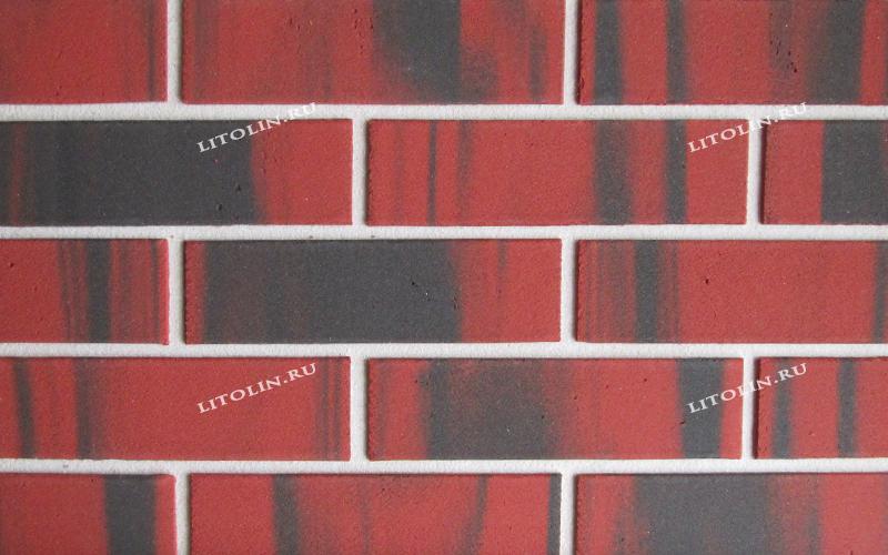 Гибкий клинкер Красный с резкими чёрными протяжками