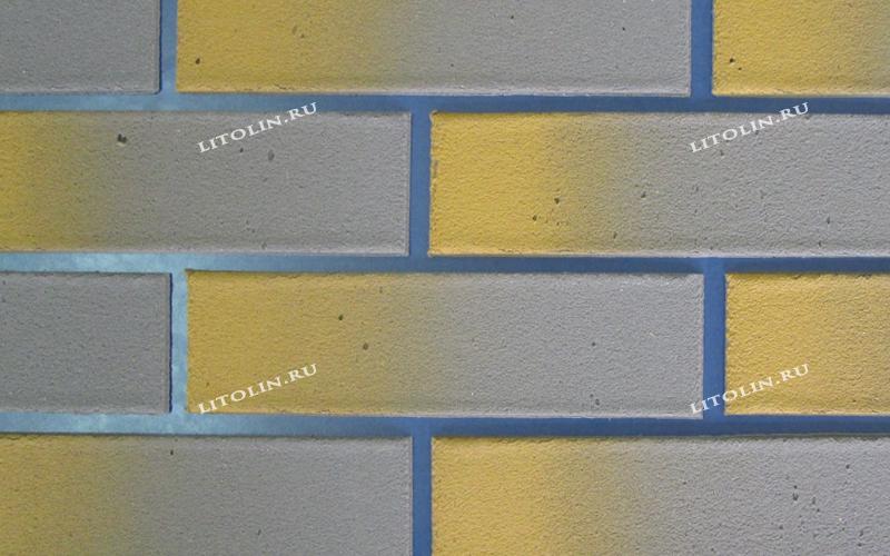 Клинкерные термопанели Светлосерый с жёлтым градиентом