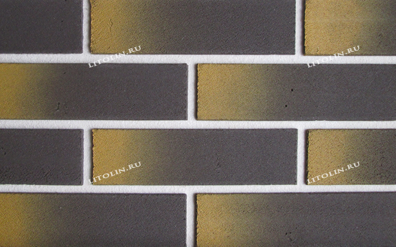 Клинкерные термопанели Серый с жёлтым градиентном