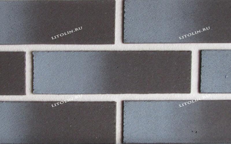 Клинкерные термопанели Горький шоколад с серым градиентом