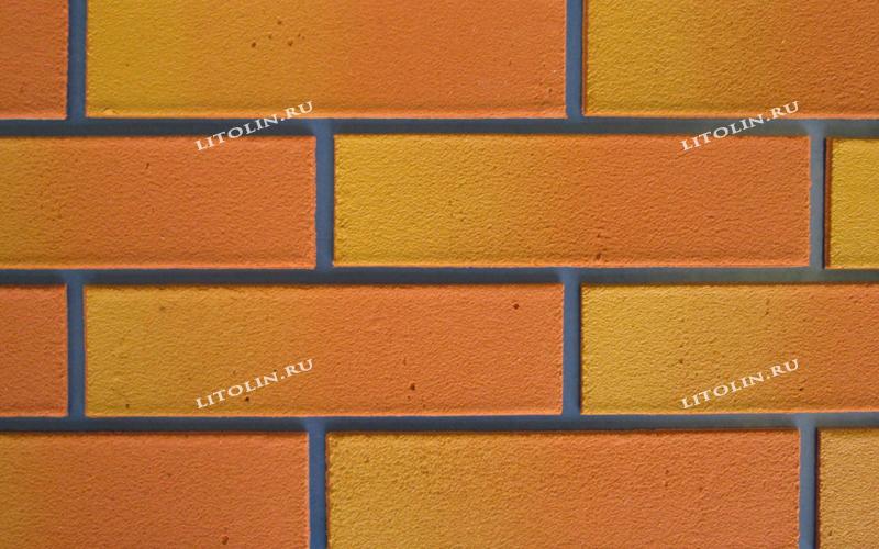 Клинкерные термопанели Оранжевый с жёлтым градиентом