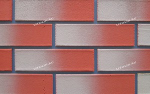 Калуга Гибкий клинкер Тёмно-красный фундамент с серым градиентом