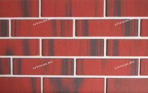 Краснодар Гибкий клинкер Красный с мягкими чёрными протяжками
